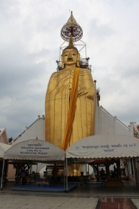 A 70ft gold plated standing buddha statue and temple