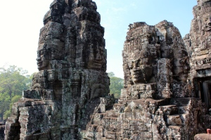 Bayon Temple in the Angkor Thom Temple Complex