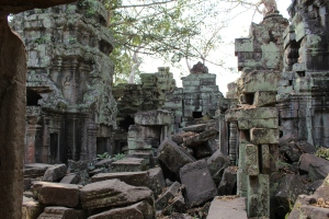 Courtyard in the Ta Prohm Temple