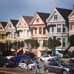 The Painted Ladies from Alamo Square.