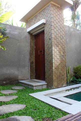 View of the door from inside our villa